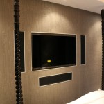 Bedroom in-wall TV